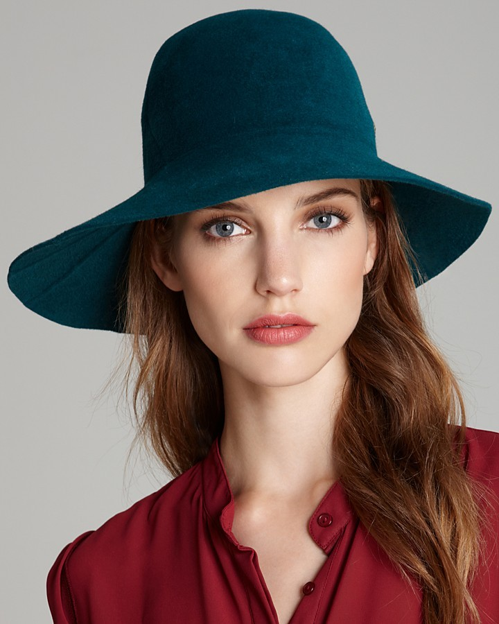 Helen Kaminski Yesika Wide Brim Fur Felt Hat