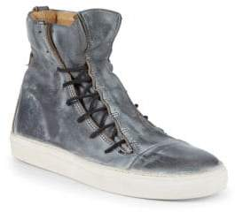 John Varvatos Mac Lace-Up Leather High-Top Sneakers