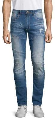 Buffalo David Bitton Super Max-X Distressed Skinny Jeans
