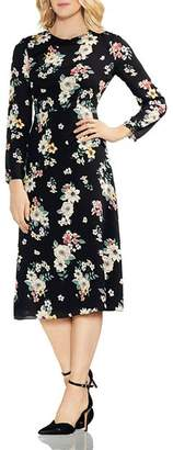 Vince Camuto Floral Story Midi Dress