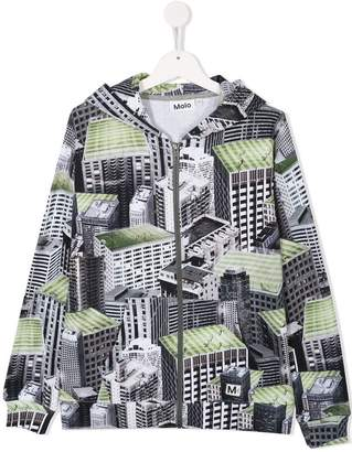 Molo TEEN building print hoodie