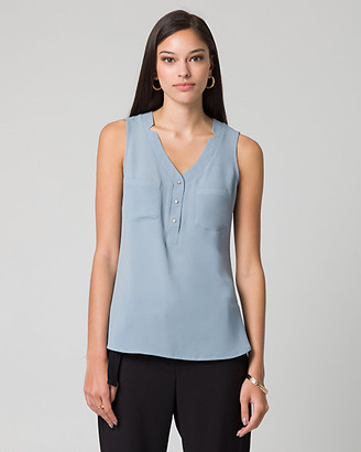 Le Château Crepe de Chine & Viscose Top