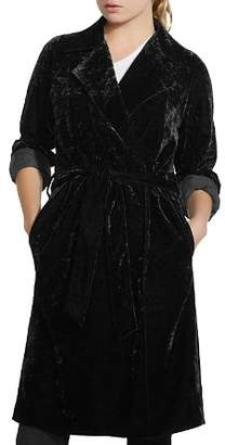Bailey 44 Nikita Crushed Velvet Trench Coat