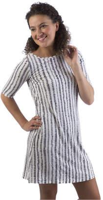 Yala Adrianna Boat Neck 3/4 Sleeve Viscose from Bamboo Dress with Pockets