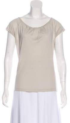 Barneys New York Barney's New York Silk Short Sleeve Top