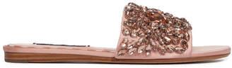 Alice + Olivia Abbey Jeweled Slide Sandal