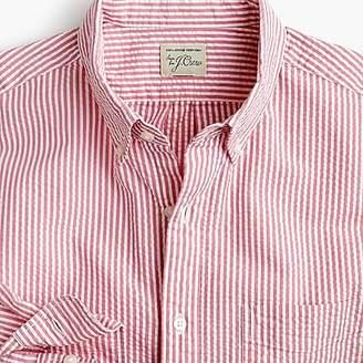 J.Crew Tall seersucker shirt in classic stripe