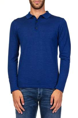 Daniele Fiesoli Merino Wool Blend Polo Shirt