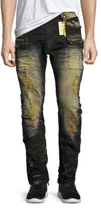 Robin's Jeans Distressed Cargo Skinny Jeans, Blue/Black