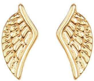 GILDED BY KATIE DIAMOND Gold Plated Sterling Silver Angel Wing Stud Earrings
