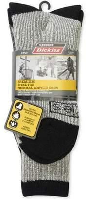 Dickies Men's Thermal Steel Toe Crew Socks, 2-Pack