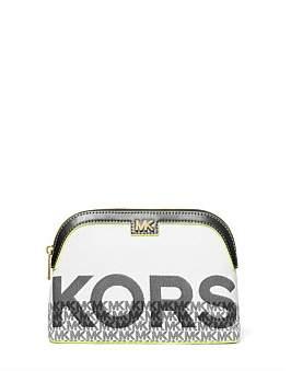 Michael Kors Carolina Large Graphic Logo Jacquard Travel Pouch
