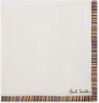 Paul Smith Artist stripe cotton pocket square