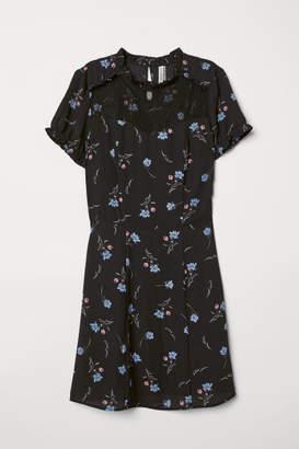 H&M Dress with Lace Yoke - Black