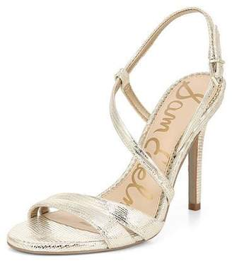 858739406505 Sam Edelman Alisandra Strappy Metallic Leather Sandals