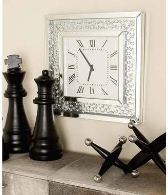 DecMode Decmode Wood Mirror Wall Clock, Multi Color
