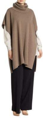 Marina Rinaldi, Plus Size Plus Aqua Cashmere Knit Poncho