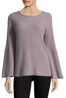Design History Roundneck Bell-Sleeve Cashmere Sweater