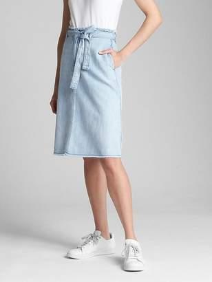 Gap Belted A-Line Denim Skirt