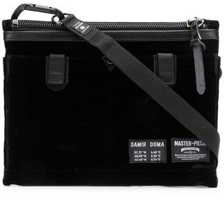 Damir Doma X MASTER-PIECE Anton velvet shoulder bag