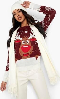 boohoo Reindeer Christmas Jumper