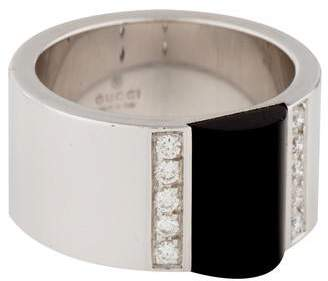 Gucci 18K Onyx & Diamond Band