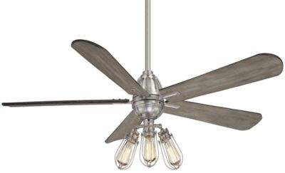 Minka Aire Minka-Aire Alva 56-Inch 3-Light LED Ceiling Fan in Brushed Nickel