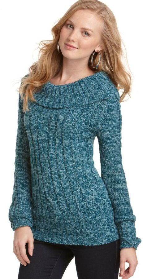 Love Change Sweater, Long Sleeve Wide Ribbed Boatneck