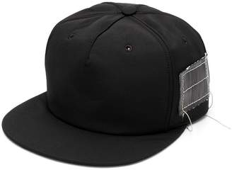 Rick Owens patched straight peak cap