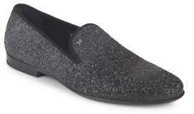 Galliano Glitter Smoking Slippers