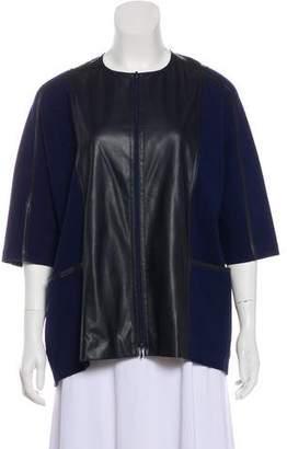 Lafayette 148 Short Sleeve Zip-Up Jacket