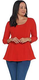 Women with Control Attitudes by Renee 3/4 Sleeve Peplum SweaterTop
