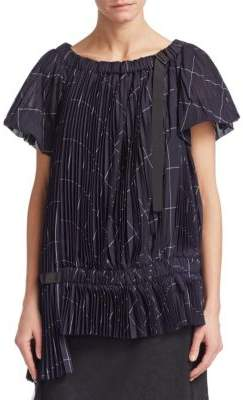 Sacai Checked Organza Top
