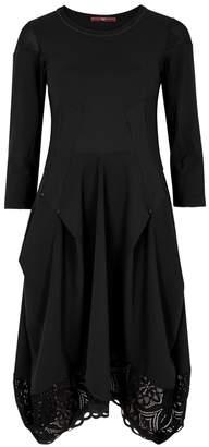 High Praise Black Draped Jersey Dress
