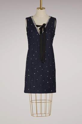 Miu Miu Crystals denim dress