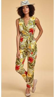 Miguelina Alexa Cotton-Voile Jumpsuit - Limited-Edition Tropical Print