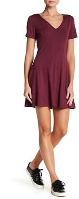 H By Bordeaux Heavy Jersey Skater Dress
