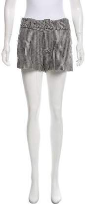 L.A.M.B. Mid-Rise Houndstooth Shorts