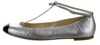 Giuseppe Zanotti Leather Round-Toe Flats