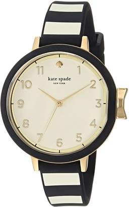 Kate Spade Women's 'Park Row' Quartz Stainless Steel and Silicone Casual Watch, Color:Black (Model: KSW1313)