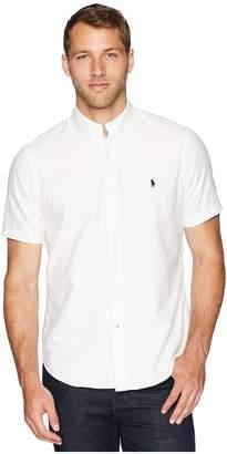 Polo Ralph Lauren Oxford Short Sleeve Sport Shirt Men's Clothing