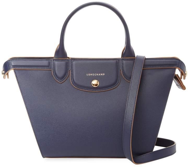 Longchamp Women's Le Pliage Heritage Medium Leather Tote - DARK BLUE/NAVY - STYLE
