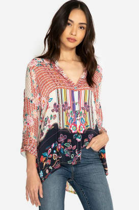 Johnny Was Patchwork Print Blouse