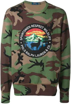 Polo Ralph Lauren camouflage print sweatshirt
