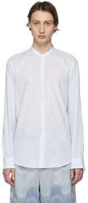 Dries Van Noten Blue and White Claver Shirt