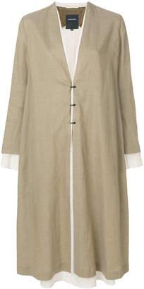 Pas De Calais layered collarless coat