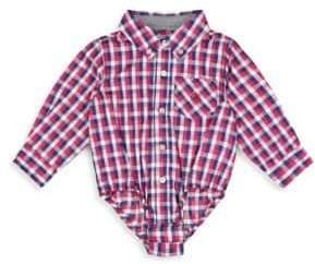 Andy & Evan Baby Boy's Checkered Shirt Bodysuit