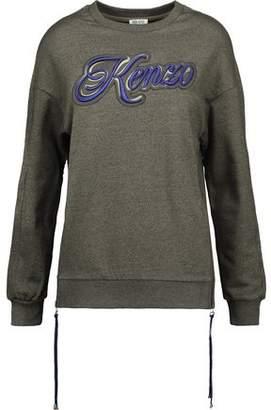 Kenzo Embroidered Appliquéd Cotton-Jersey Sweatshirt