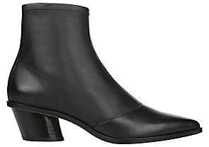 Via Spiga Women's Odette Stacked Heel Leather Sock Booties