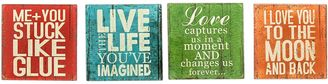 Casa Uno 'Live Life' Square Glass Coaster (Set of 4)
